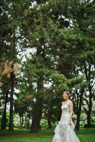 庄内緑地公園で撮影した洋装ロケーション
